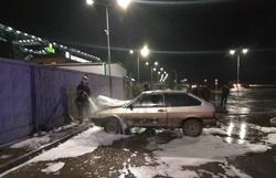 В Новоодесском районе возле элеватора загорелся автомобиль (Фото)