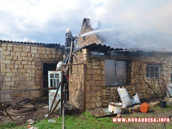 Возле Новой Одессы горел жилой дом (Фото)
