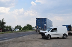 Между Новой Одессой и Николаевом столкнулось несколько машин (Фото)