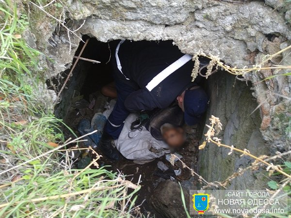 В Новой Одессе мужчина упал в заброшенный канализационный люк (Фото)