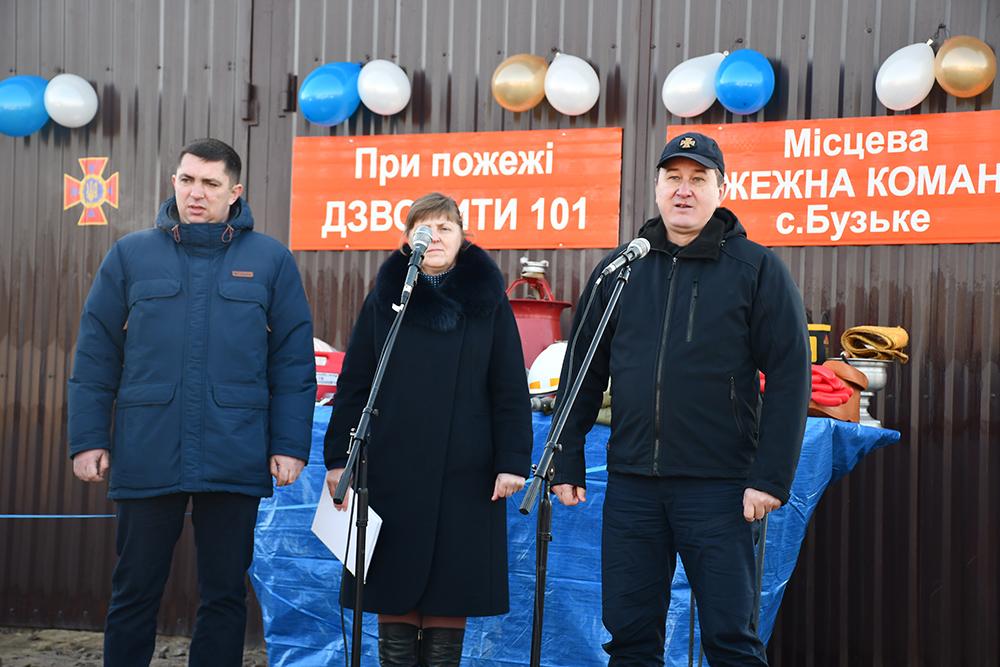 В одном из сёл Новоодесского района открыли подразделение местной пожарной охраны (Фото)