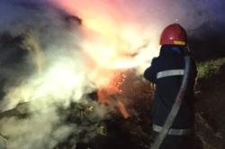 В Новой Одессе ночью сгорело несколько тонн сена (Фото)